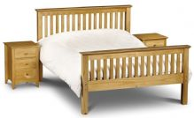 Barcelona Pine High Foot End King Size Bed 150cm